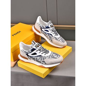 FENDI 2021Men Fashion Boots fashionable Casual leather Breathable Sneakers Running Shoes08030yph