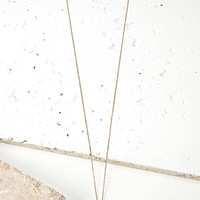 Longline Faux Crystal Necklace