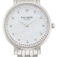 Women's kate spade new york 'monterey' crystal dial bracelet watch, 38mm - Silver
