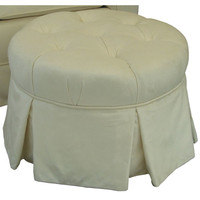 Angel Song 224720167 Aspen Cream Adult Park Avenue Round Ottoman