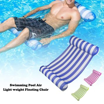 Inflatable Swimming Ring Pool Floating Air Mattress Water Swim Rings Float Mat For Adults Kids