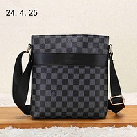 LV 2018 new casual men's business style briefcase shoulder bag