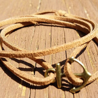 Leather Anchor Bracelet Charm Men Women Unisex Fashion New Love Cute Diy Friends