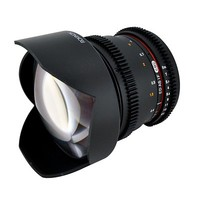 Rokinon 14mm T3.1 f/3.1 Ultra Wide Cine Lens with Declicked Aperture for Canon and Lens Cleaning Kit