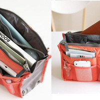 Dual Zipper Storage Bags Portable Travelling Home Supplies Arrangement Multifunction Organizer Pouch Holder Cosmetic Handbag