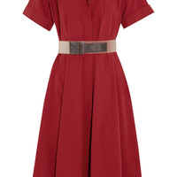 Donna Karan New York - Belted cotton-poplin dress
