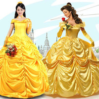 Halloween costumes for women fairy adult princess belle costume girl dress beauty and the beast adult costumes cosplay Custom