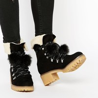 ASOS ROCK FACE Lace Up Ankle Boots