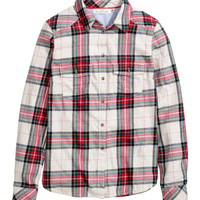 Plaid Flannel Shirt - from H&M