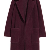 Wool-blend coat - Plum - Ladies | H&M GB