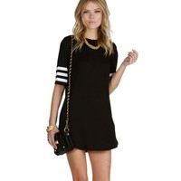 Black Athletic Jersey Tunic