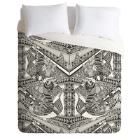 Geronimo Studio Grey Folk Duvet Cover