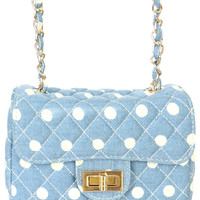 POLKA DOT QUILTED CROSSBODY BAG
