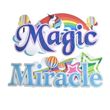 Magic and Miracle Word Art Stickers, 5-1/2-Inch, 2-Piece