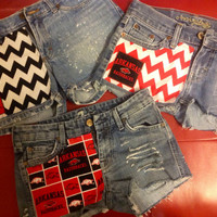 Custom Arkansas Razorback Shorts Chevron Multi Logo