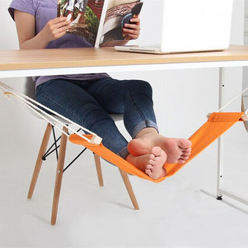 Foot Rest Stand Desk Feet Hammock Easy to Disassemble Study Indoor
