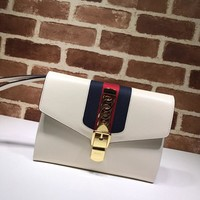 Gucci Sylvie leather continental pouch