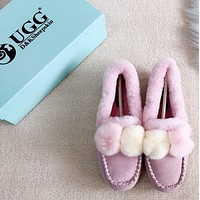 UGG Double hairy ball peas shoes