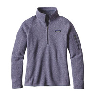 Patagonia Women's Better Sweater Quarter Zip Pullover- Lupine