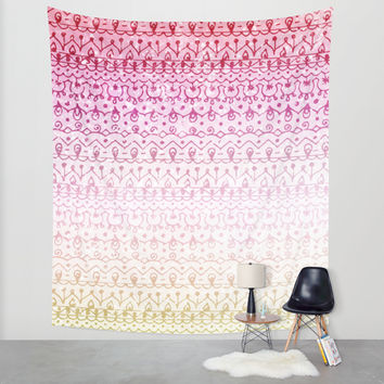 Strawberry Shortcake Wall Tapestry by Jenndalyn