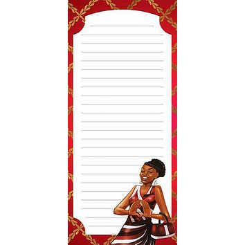 Red and White Magnetic Notepad