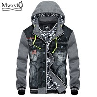 Trendy Mwxsd winter thick cotton Jacket men hooded sportswear Casual fashion Jackets Hoodies Cowboy Mens Jacket and Coat AT_94_13