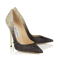 Jimmy Choo Women Gradient Color Fashion Pointed Toe Heels Shoes