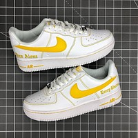 Nike Air Force 1 '07 Embroidered Letter Men's Flat Low-Top Sneakers Shoes