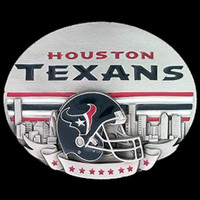 Houston Texans NFL Enameled Belt Buckle