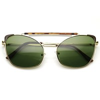 Unique Retro Steampunk Cat Eye Aviator Sunglasses  9493