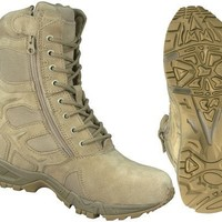 Rothco G.I. Type Side Zipper Tactical Boots, Desert Tan, Size 12