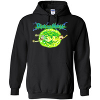 Rick & Morty Portal Glow Lightning Logo cool shirt