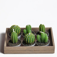 Cactus Tealight Candles - $14.00 : ThreadSence, Women's Indie & Bohemian Clothing, Dresses, & Accessories