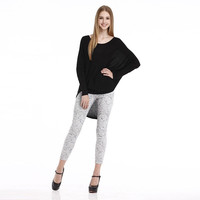 Women's Autumn Fashion Long Sleeve O Neck Casual Sweaters Knit Pullovers Knitwear F1109