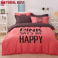 Adult/kids bedding set Red Happy boys/girls quilt duvet cover bed sheet cartoon pattern bedspread queen twin size bed linen