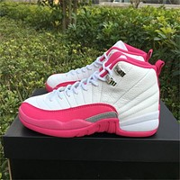 Air Jordan 12 GS Dynamic Pink Sneaker 36-40