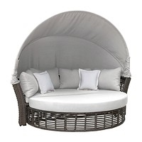Panama Jack Graphite Canopy Daybed with Cushions