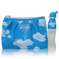 Cheap & Chic Light Clouds by Moschino Gift Set -- 1.7 oz Eau De Toilette Spray with Free Cosmetic Pouch