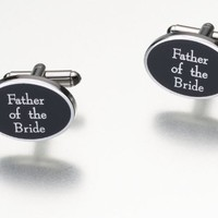 Lillian Rose Father of Bride Cufflinks, Pair of 1-Inch