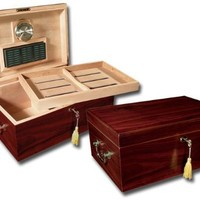 Prestige Import Group Monte Carlo Wood Cigar Humidor with Handles