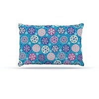 "Kess InHouse Julia Grifol ""Floral Winter"" Fleece Dog Bed"