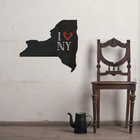 New York Chalkboard State wall decal