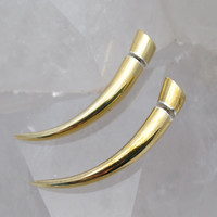 FAKE GAUGES - TALON. Brass and Silver for standard piercings - small