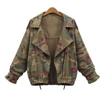 Talia Military Army Rose Camouflage Jacket