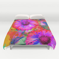 The Painter's Flowers Duvet Cover by Thea Walstra