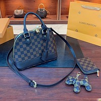 Louis Vuitton LV fashion three-piece shoulder bag