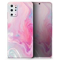 Marbleized Pink Paradise V5 - Skin-Kit for the Samsung Galaxy S-Series S20, S20 Plus, S20 Ultra , S10 & others (All Galaxy Devices Available)