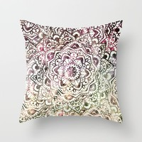 STARRY DAY MANDALA Throw Pillow by Nika