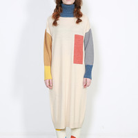 Geometric Slouchy Sweaterdress