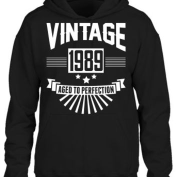 VINTAGE 1989 - Birthday - Aged To Perfection Hoodie